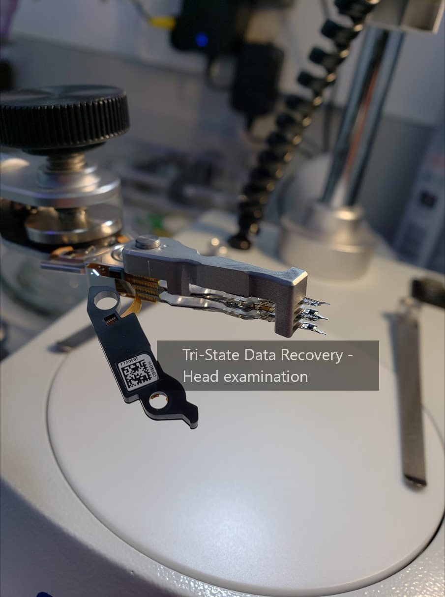 Tri-State Data Recovery head examination